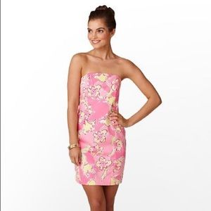 LILLY PULITZER FRANCO Strapless Dress